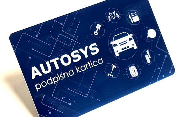 Podpisna kartica NFC (modra) za Autosys