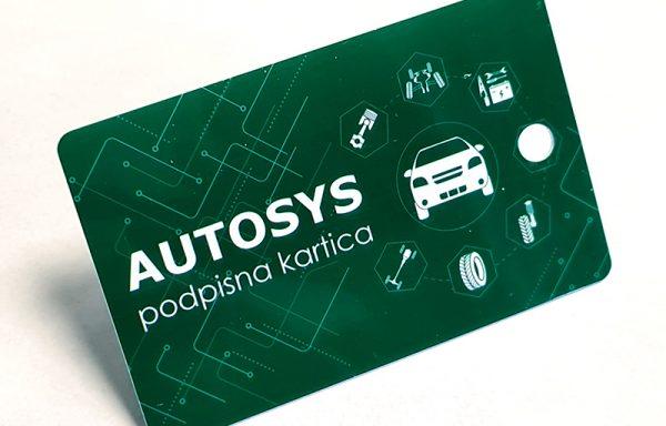 Podpisna kartica RFID (zelena) za Autosys
